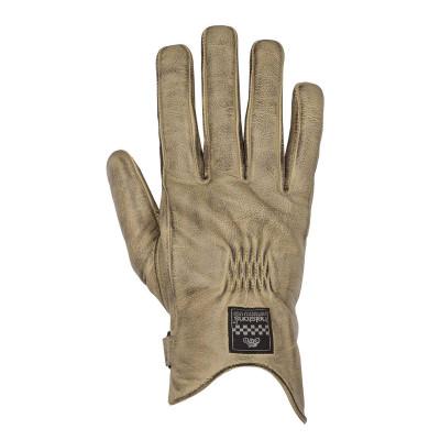 Helstons Condor Summer Beige Black Leather Glove