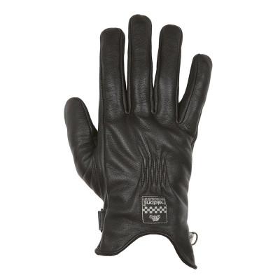 Helstons Condor Summer Black Leather Glove