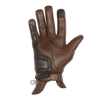 Helstons Condor Summer Camel Black Leather Glove