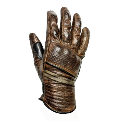 Helstons Corporate Camel/Black Leather Summer Glove