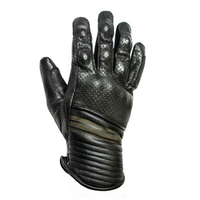 Helstons Corporate Black Leather Summer Glove