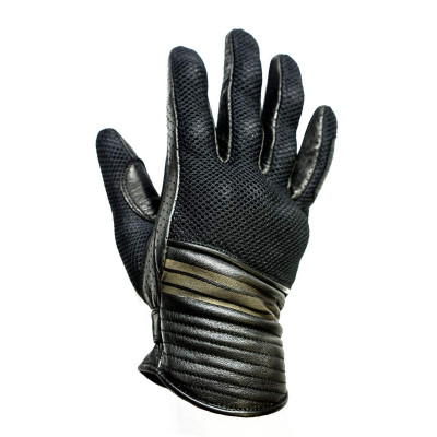 Helstons Corporate Black Mesh Summer Glove