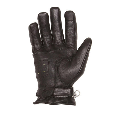Helstons First Summer Black Leather Gloves