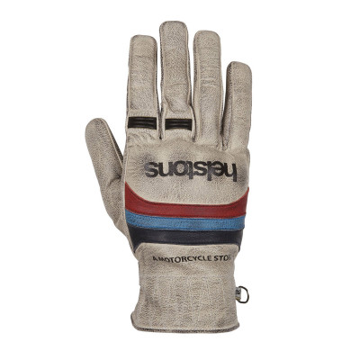 Helstons Mora Beige/Blue/Red Leather Summer Glove