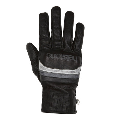 Helstons Mora Black/White/Grey Leather Summer Glove