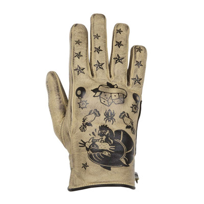 Helstons Ladies Panther Beige/Black Summer Glove