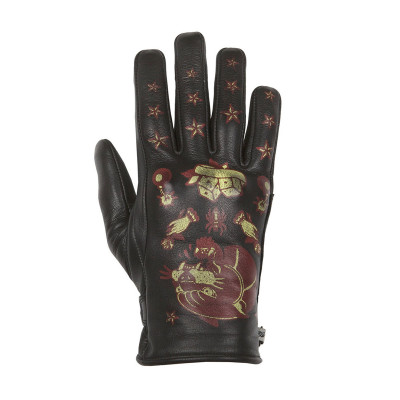 Helstons Ladies Panther Black/Red Summer Glove
