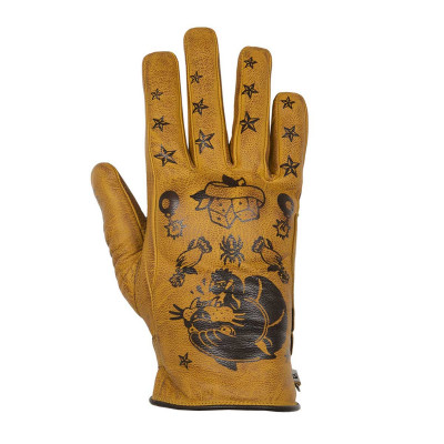 Helstons Ladies Panther Gold Summer Glove