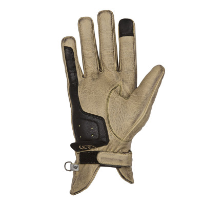 Helstons Ladies Swallow Beige/Black Leather Glove