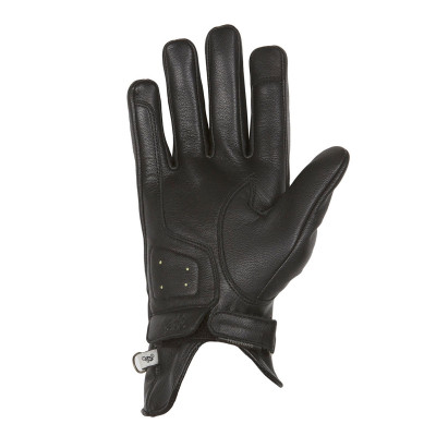 Helstons Ladies Swallow Black Leather Glove