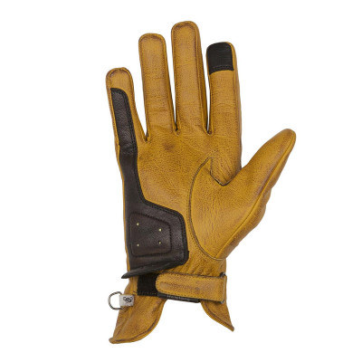 Helstons Ladies Swallow Gold/Brown Leather Glove