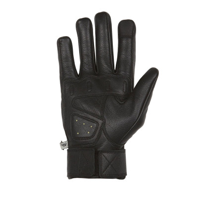 Helstons Wolf Black Summer Gloves