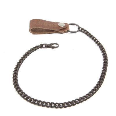 Helstons Chain & Leather Strap - Brown