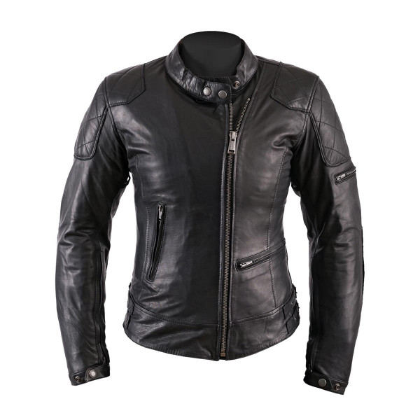 Helstons Ladies  KS70 Black Leather Jacket