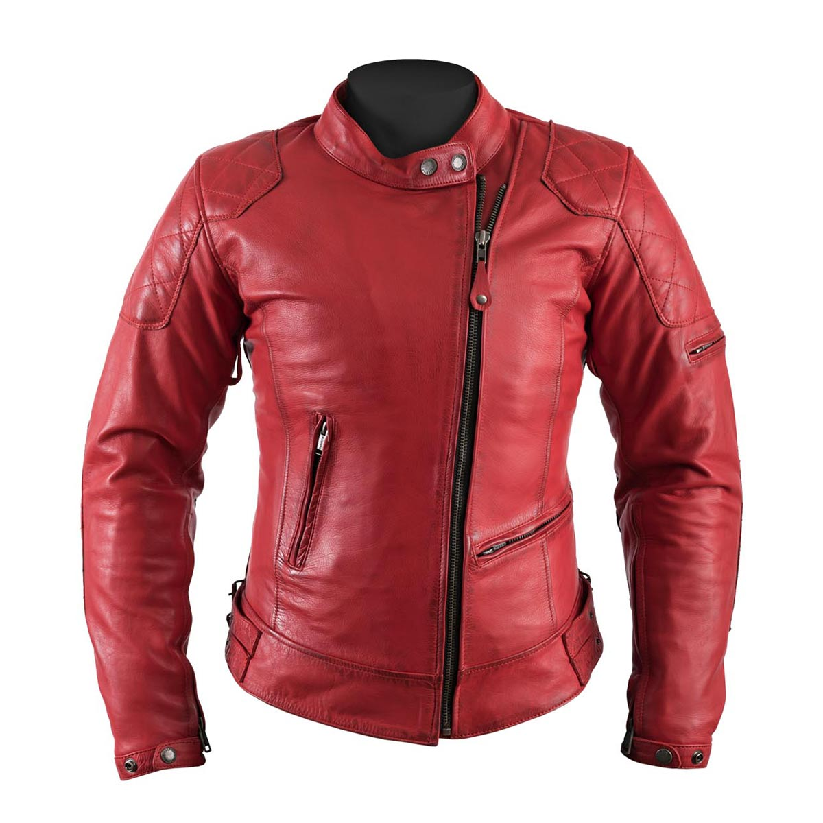 Helstons Ladies  KS70 Red Leather Jacket