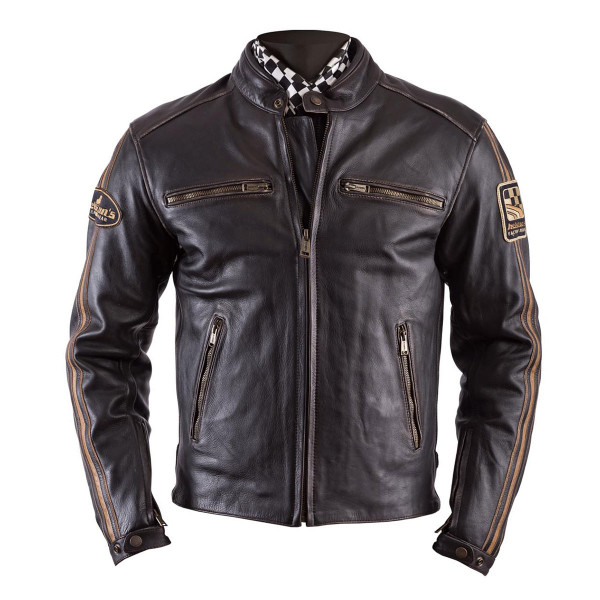 Helstons Ace Oldies Brown Leather Jacket