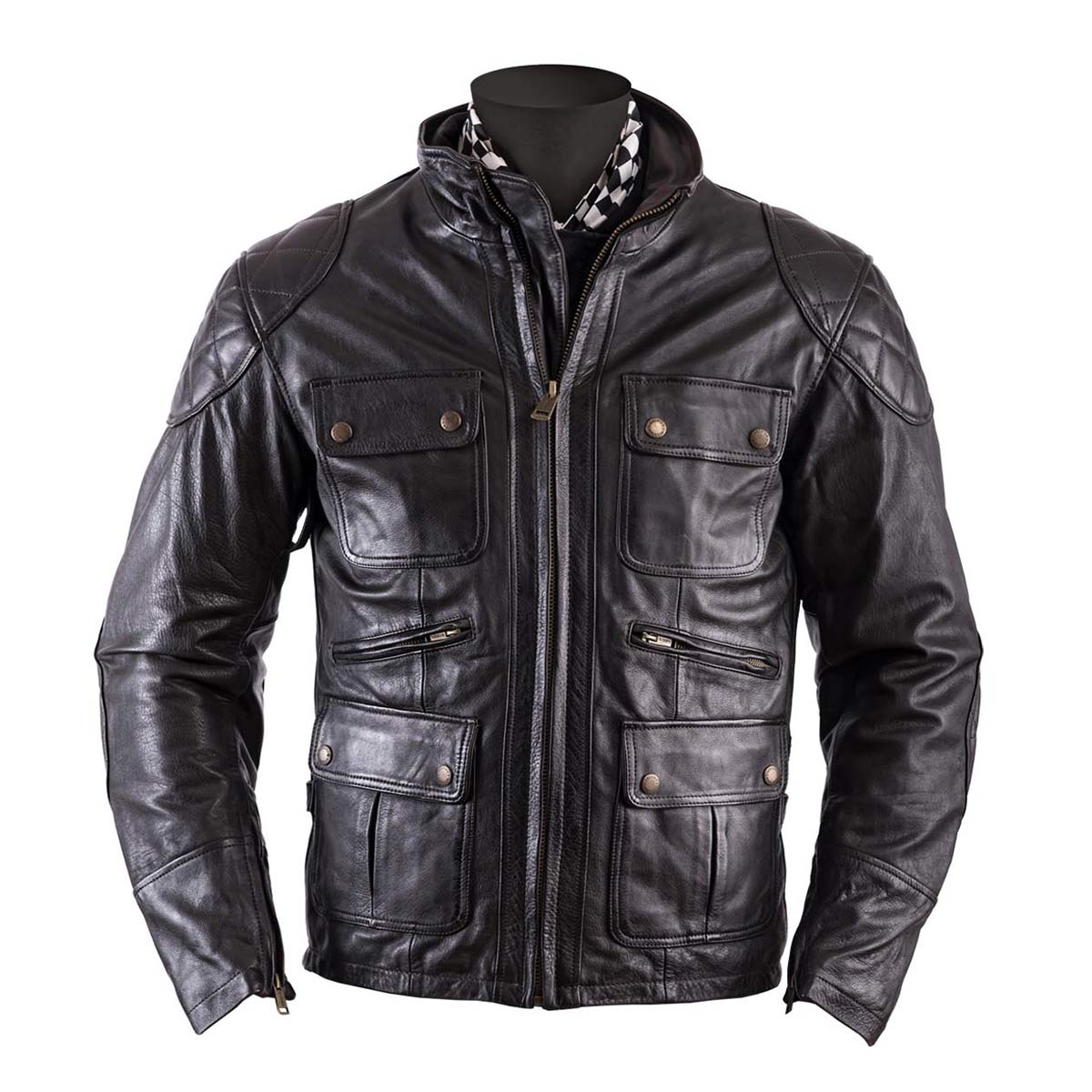 Helstons Hunt Brown Leather Jacket