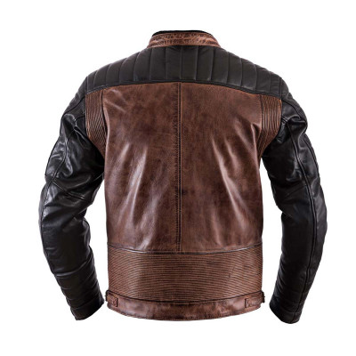 Helstons Cruiser Black Camel Leather Jacket