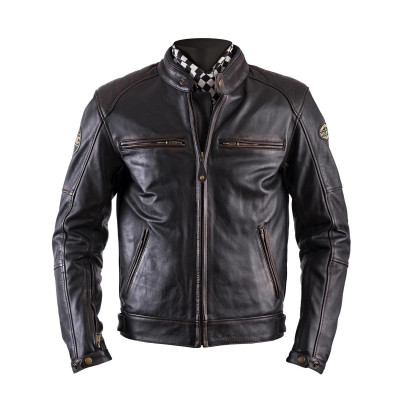 Helstons Track Oldies Brown Leather Jacket