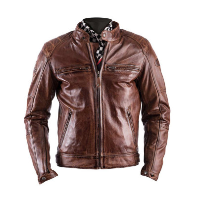 Helstons Track Camel Leather Jacket