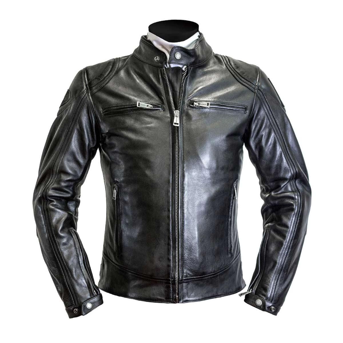 Helstons Modello Black Leather Jacket