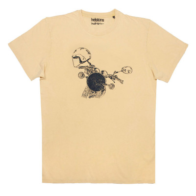 Helstons Headlight T-Shirt Yellow