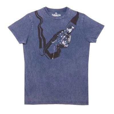 Helstons Visor (Goggles) T-Shirt Blue