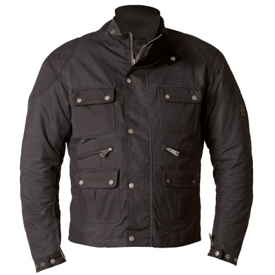 Helstons Hunt Waxed Cotton Black Jacket