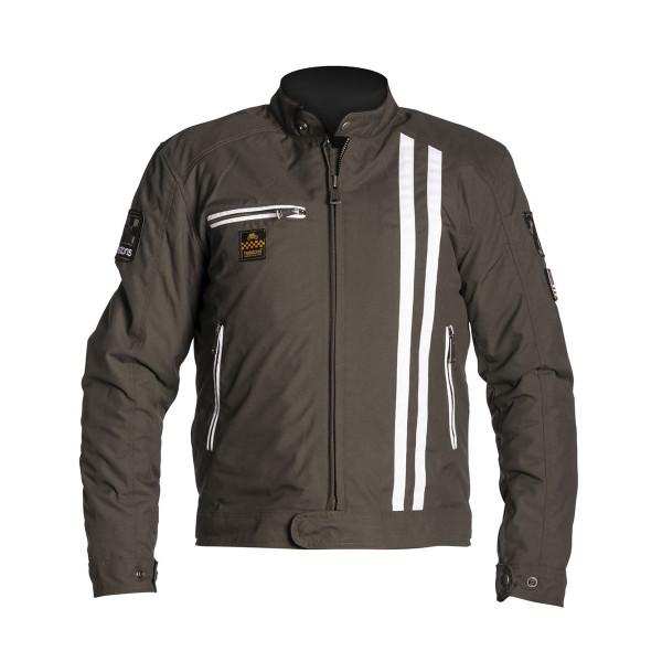 Helstons Cobra Khaki White Textile Jacket