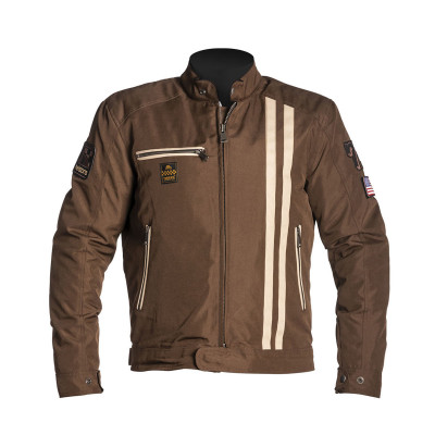Helstons Cobra Brown Beige Textile Jacket
