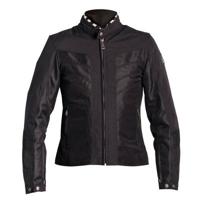 Helstons Ladies Sarah Black Mesh Textile Jacket