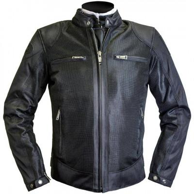 Helstons Modelo Mesh Black Textile Jacket