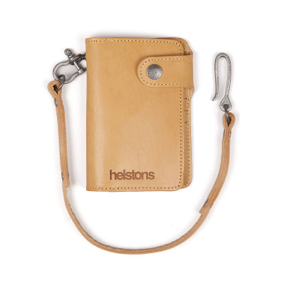 Helstons Leather Moon Wallet - Natural