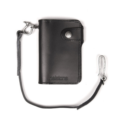 Helstons Leather Moon Wallet - Black