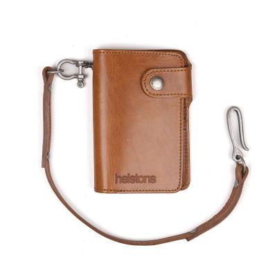 Helstons Leather Moon Wallet - Tan