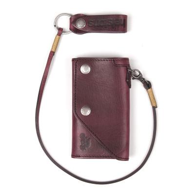 Helstons Leather Old Wallet - Bordeaux