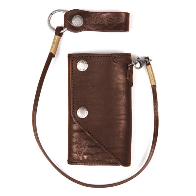 Helstons Leather Old Wallet - Brown