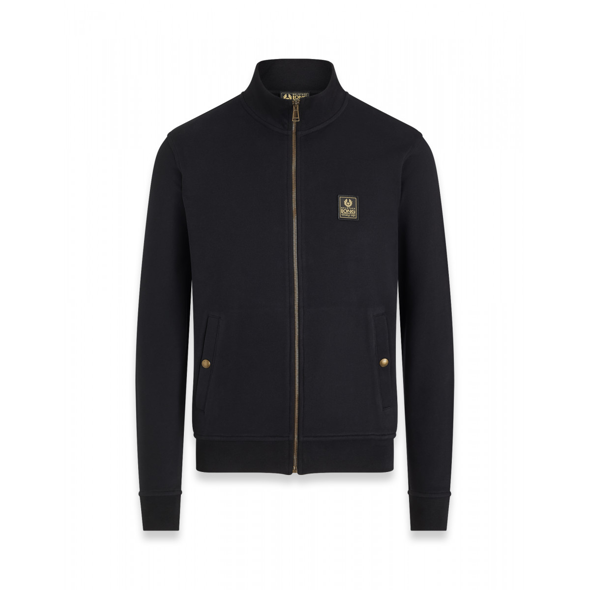 Belstaff Long Way Up Zip Through Jersey Black