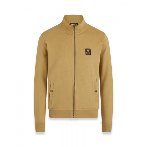 Belstaff Long Way Up Zip Through Jersey Khaki