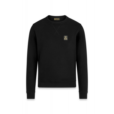 Belstaff Long Way Up Fleece Crew Neck Sweater Black