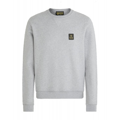 Belstaff Long Way Up Fleece Crew Neck Sweater Grey
