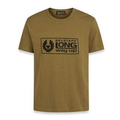 Belstaff Long Way Up Box Logo T-Shirt Khaki
