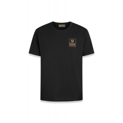 Belstaff Long Way Up Small Logo Short Sleeve T-Shirt Black