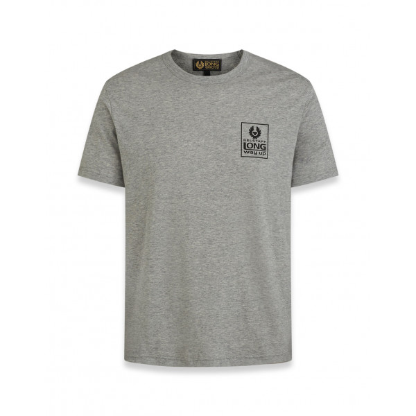 Belstaff Long Way Up Small Logo Short Sleeve T-Shirt Grey