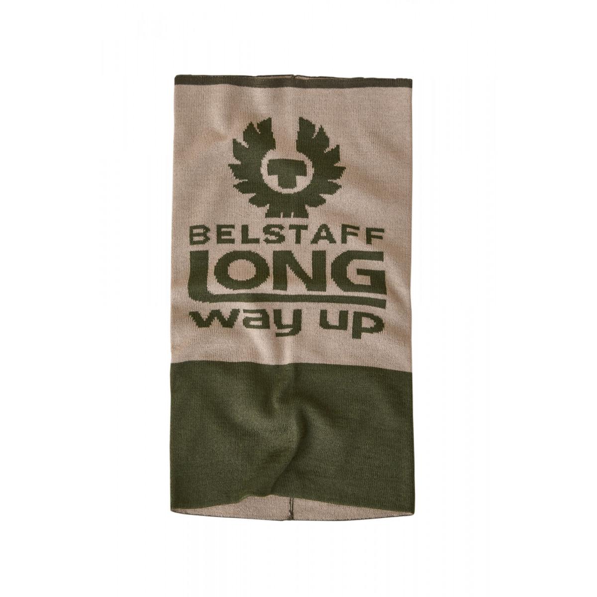 Belstaff Long Way Up Neck Warmer Olivine & Putty