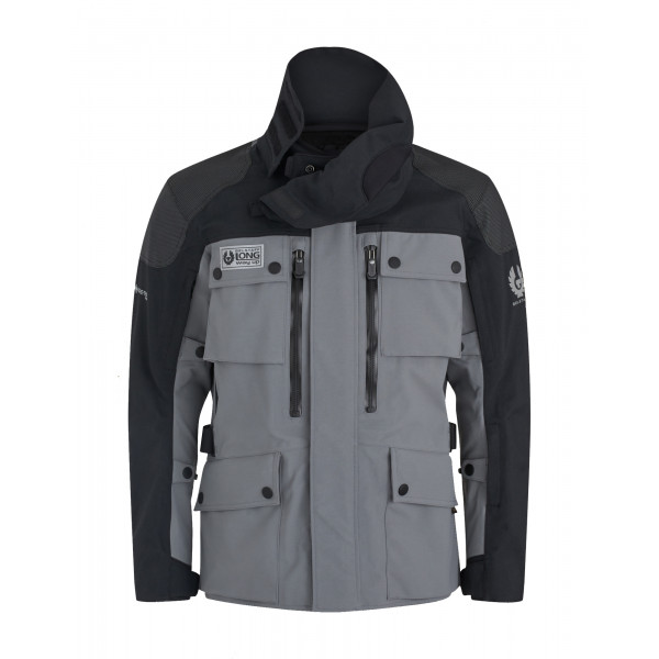 Belstaff Long Way Up Light Grey Black Jacket