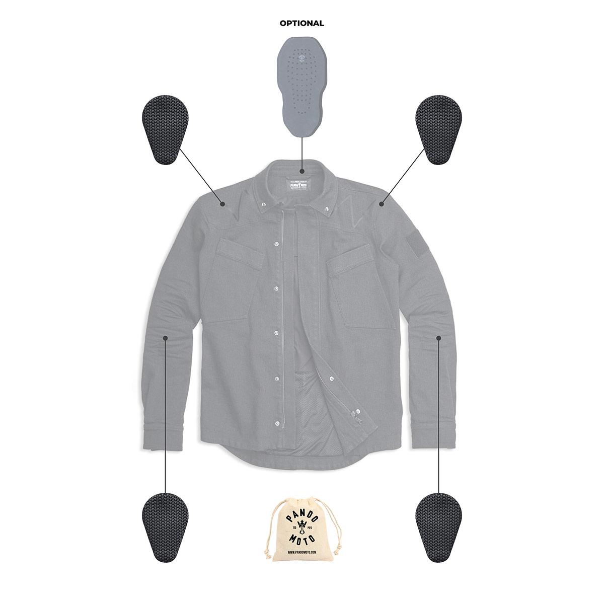 Pando Moto Capo Cor 01 Unisex Overshirt