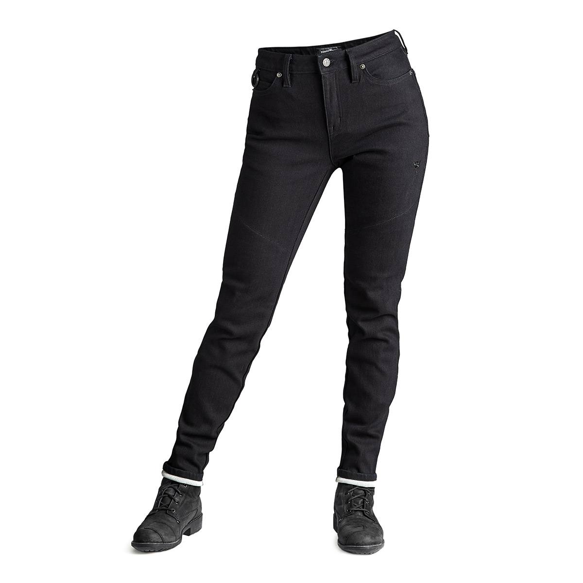 Pando Moto Kissaki Black Womens Jeans