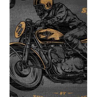 Rokker Neck Warmer Lost Riders Grey Gold