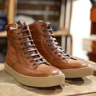 Rokker Mens City Sneakers Light Brown